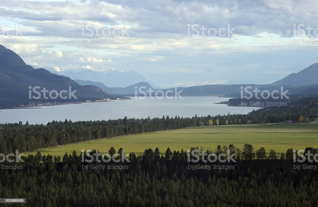 Lake and Mountains in the Kootenays British Columbia royalty-free stock photo