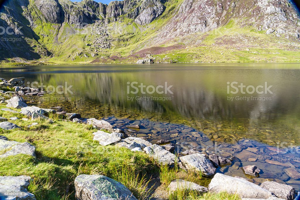 Lake And Mountains Llyn Idwal And The Devils Kitchen Stock Photo Download Image Now Istock