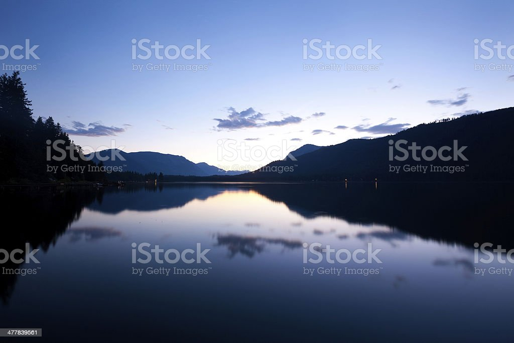 Lake and Mountains Reflection royalty-free stock photo