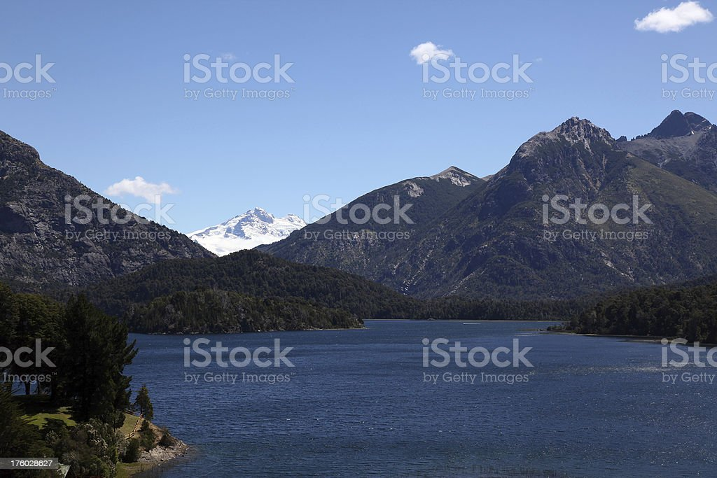 Lake and Mountains View Around Bariloche, Argentina royalty-free stock photo
