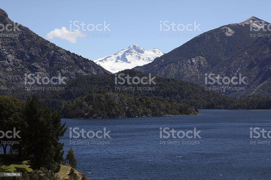 Lake and Mountains View Around Bariloche royalty-free stock photo