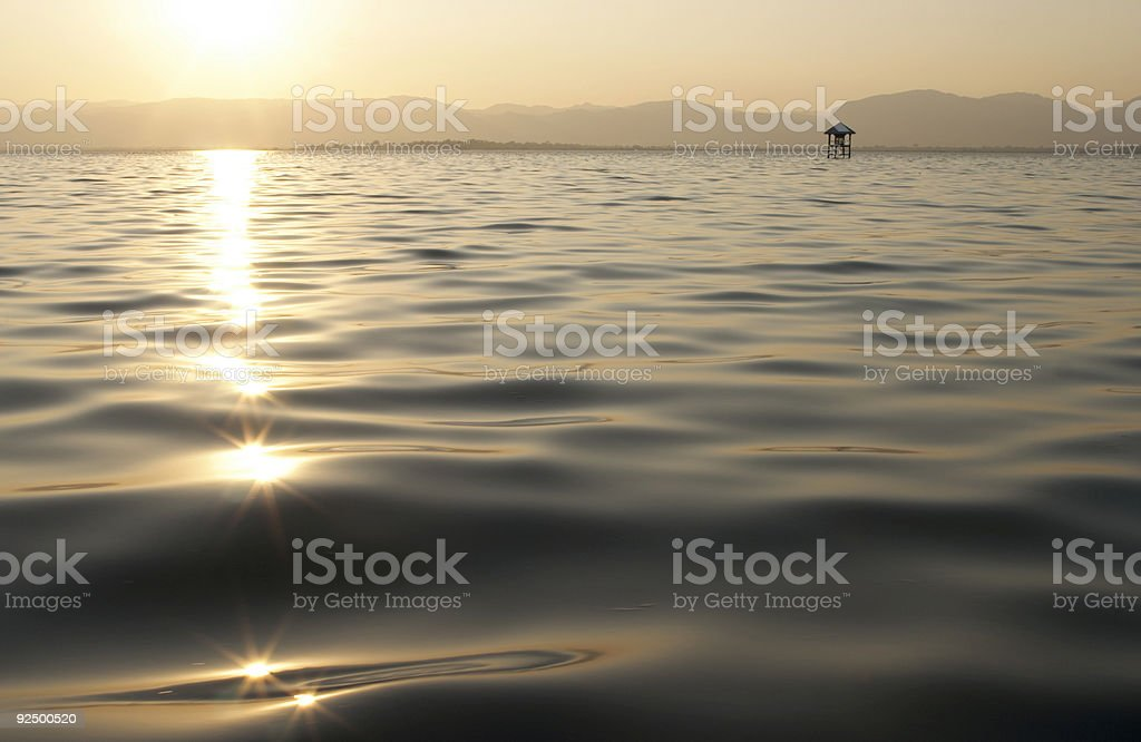 Lake and Sun Stars royalty-free stock photo