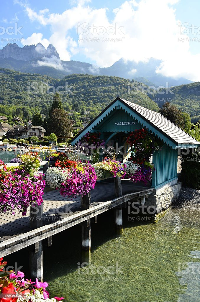 Lake Annecy stock photo