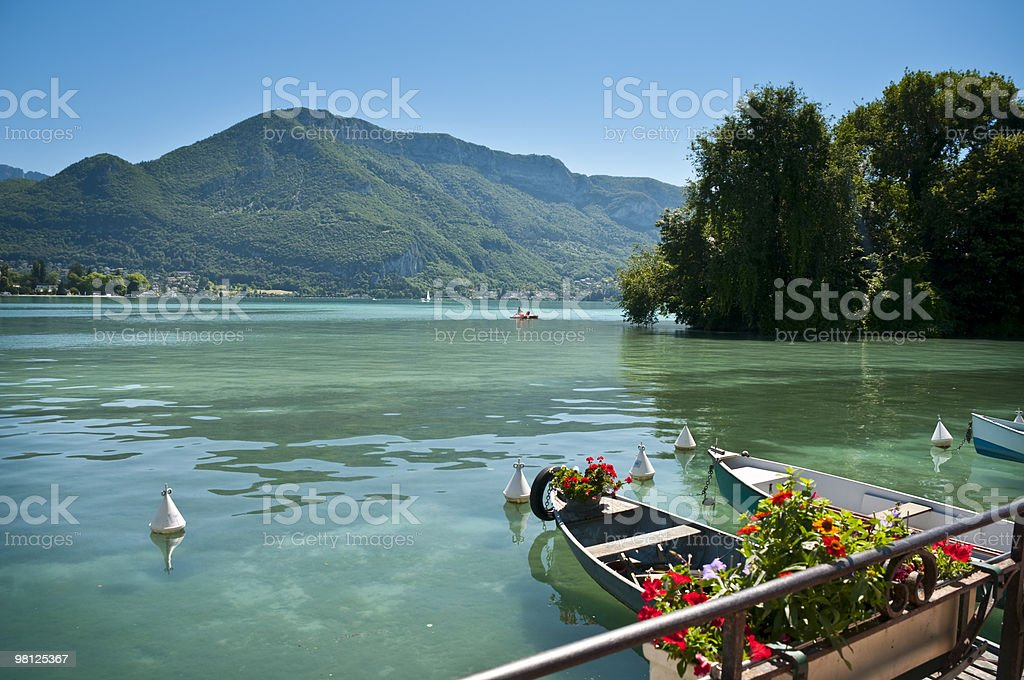 Lake Annecy royalty-free stock photo