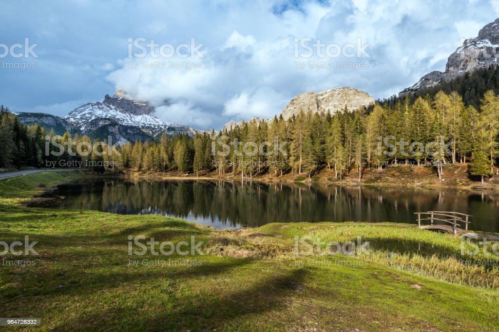 Lake Antorno in the Dolomites, South Tirol royalty-free stock photo