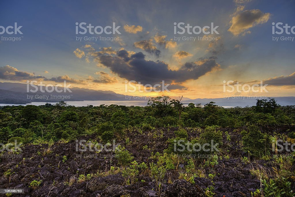 Lake Arenal royalty-free stock photo
