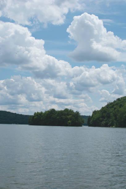 Lake Arthur at Moraine State Park stock photo