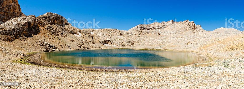 Lake at Aladaglar plateau Turkey royalty-free stock photo