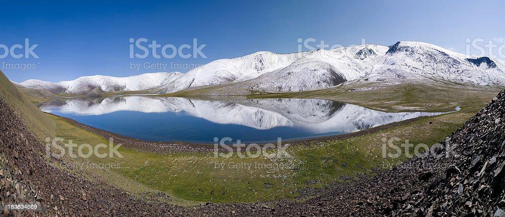 Lake at Altai Mountains stock photo