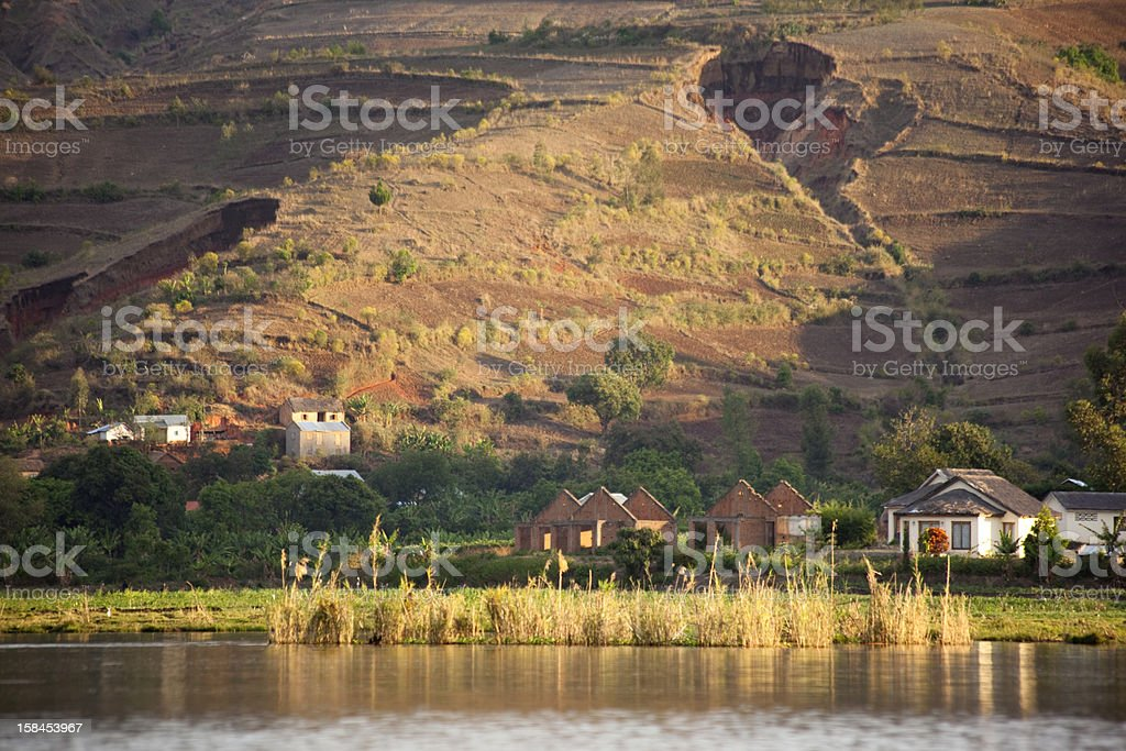 Lake at Ampefy, Central Madagascar stock photo