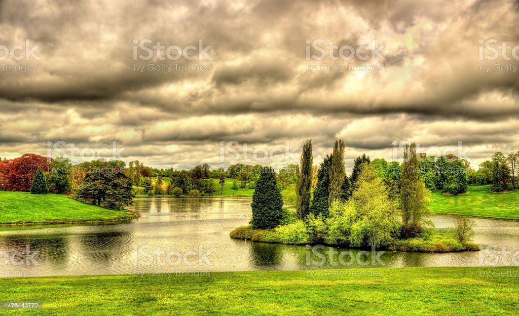 Lake at Blenheim Palace - Oxfordshire, England stock photo