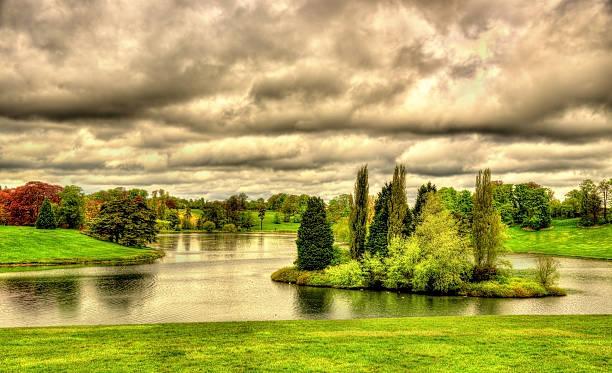 Lake at Blenheim Palace - Oxfordshire, England stock photo