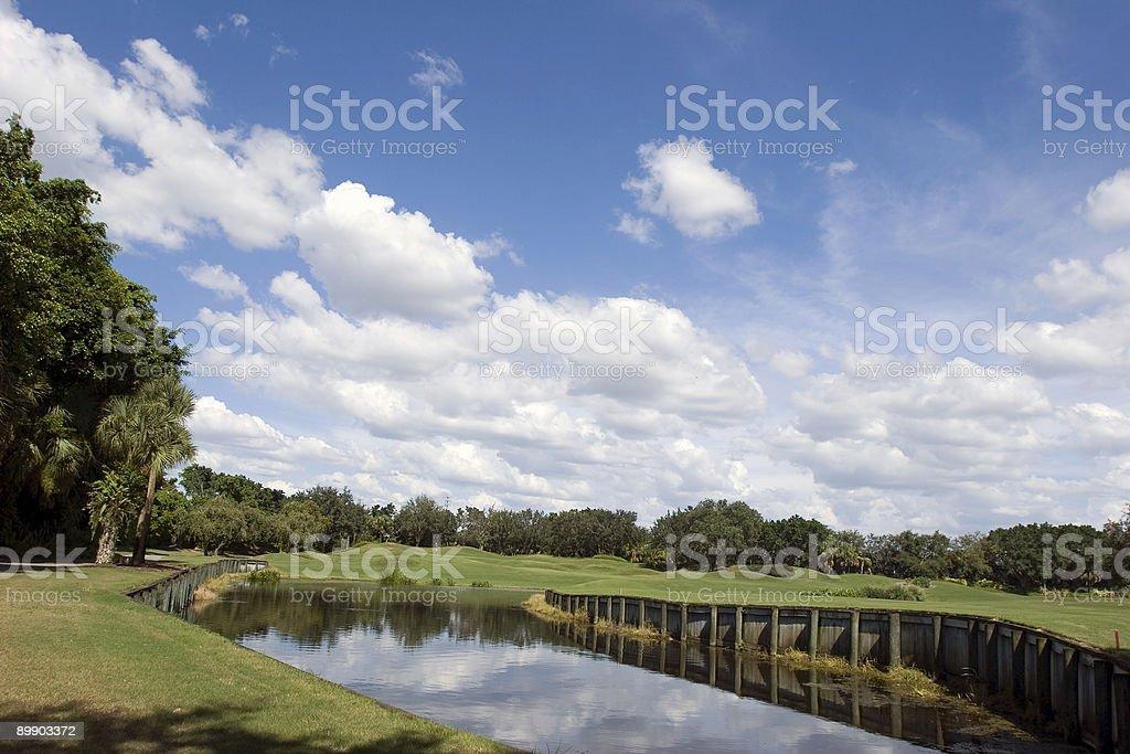 Lake at Golf royalty-free stock photo