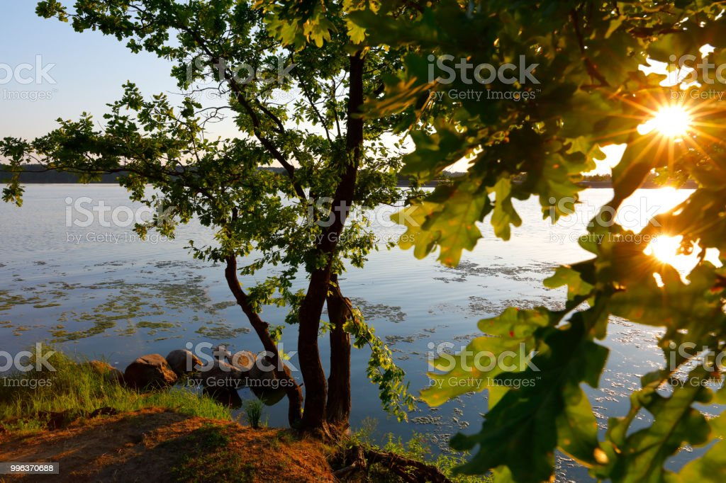 Lake at Kaunas, Lithuania, Baltic States stock photo