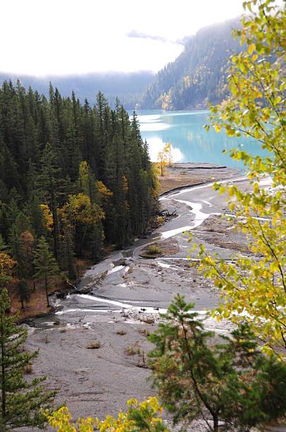 Lake at Mt.Robson stock photo