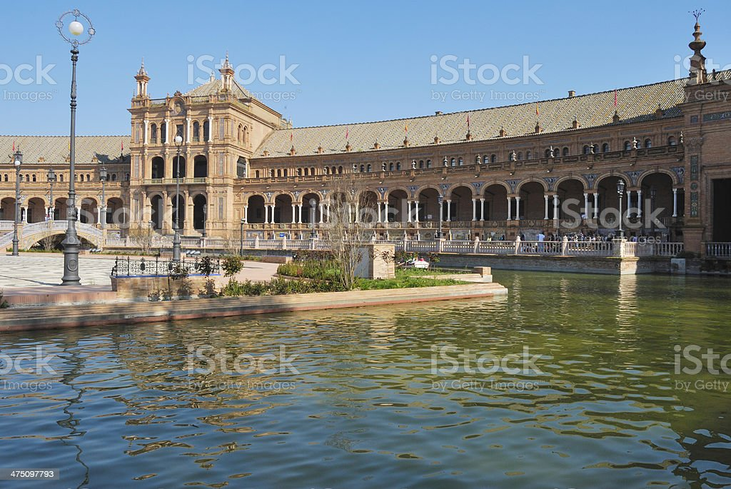 Lake at Spain Square royalty-free stock photo