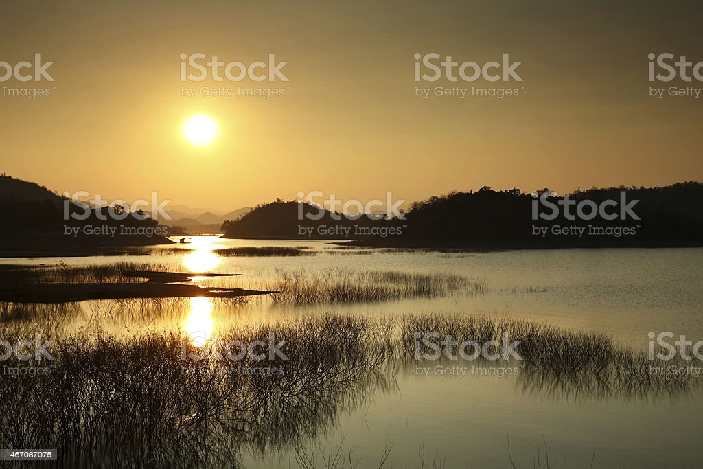 Lake at sunset - Royalty-free At The Edge Of Stock Photo