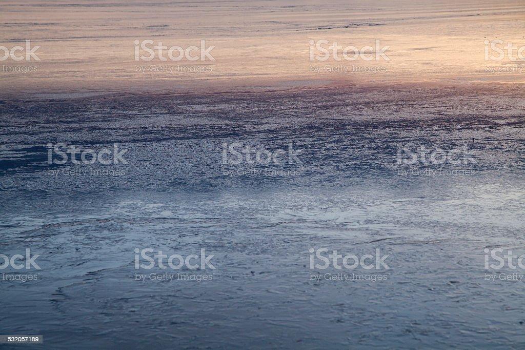 Lake at wintertime stock photo