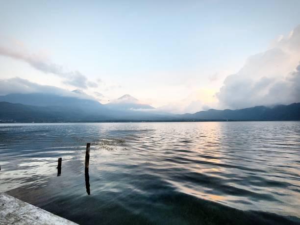 Lake Atitlan in Guatamala stock photo