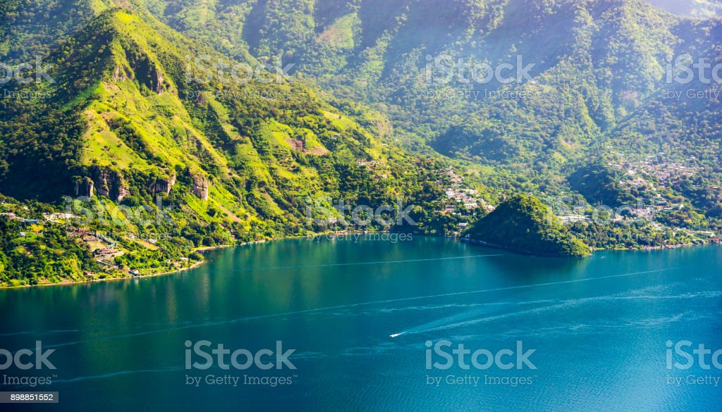 Lake Atitlan Shoreline stock photo