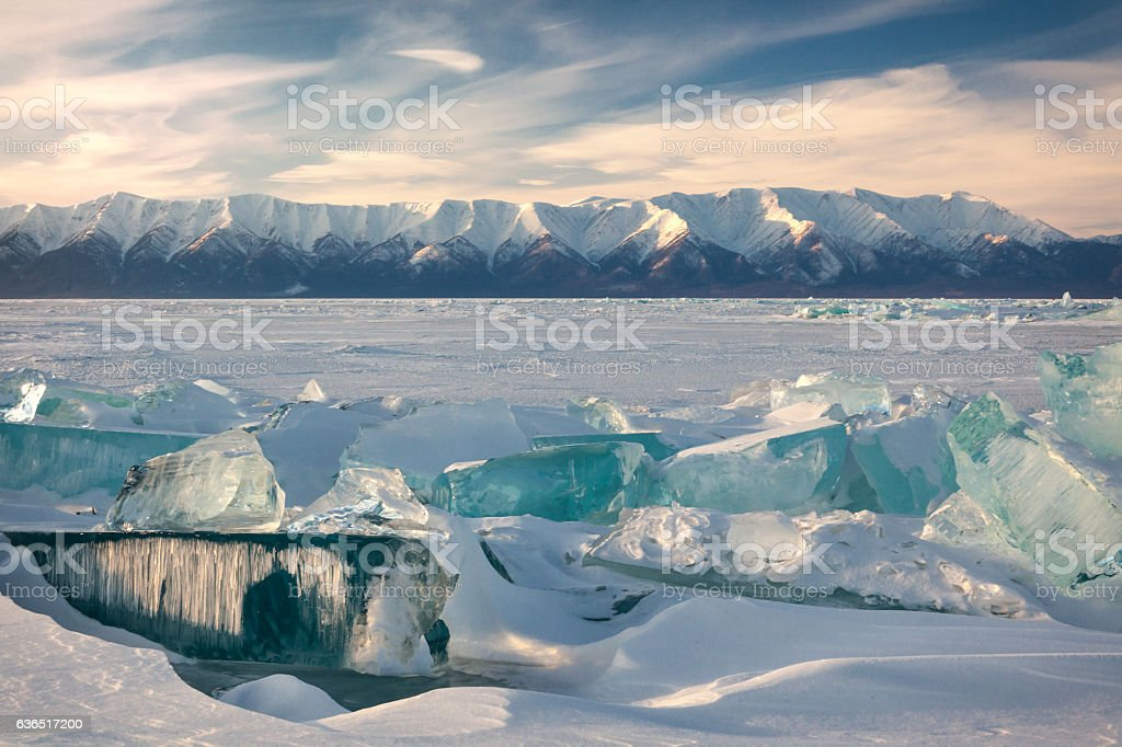 Lake Baikal in winter. – Foto