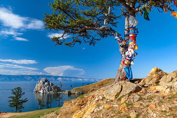 Lake Baikal.   Insel Olkhon.   Cape Burkhan.   – Foto
