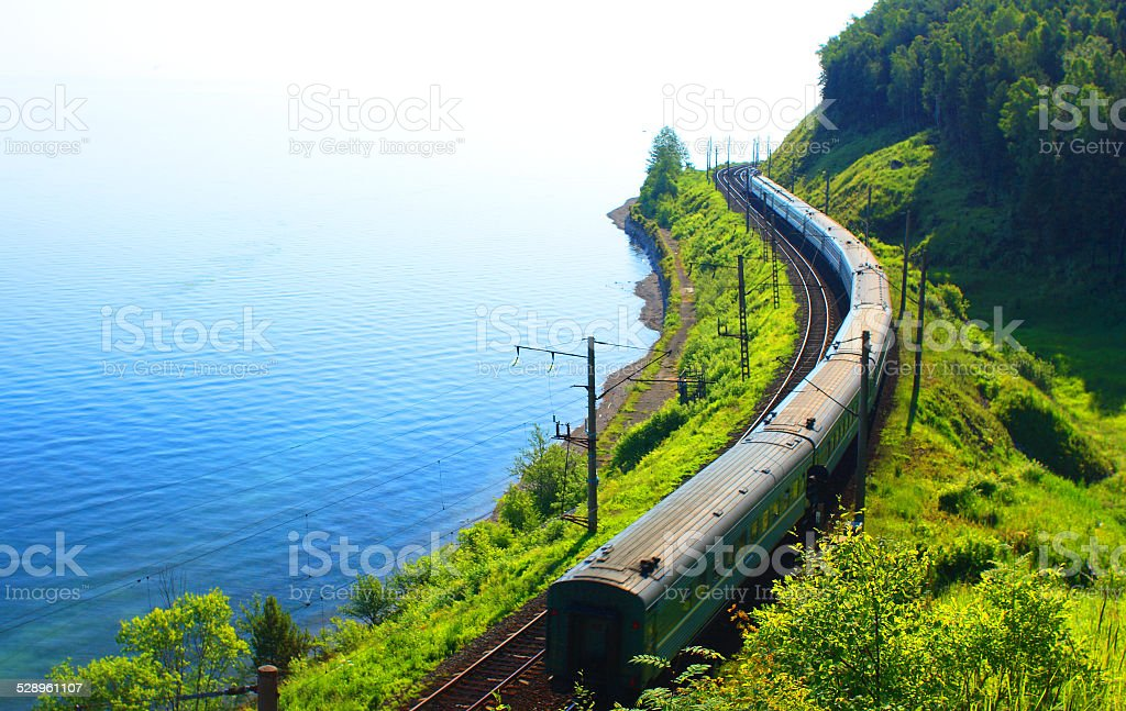 Lake Baikal, Russia. stock photo