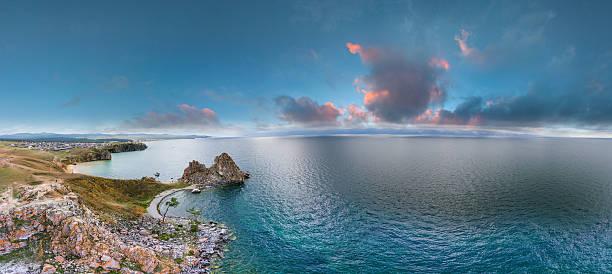 Lake Baikal. Shamanka rock. – Foto