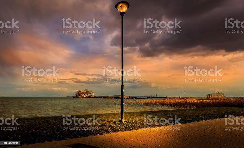 Lake Balaton, Keszthely, Hungary stock photo