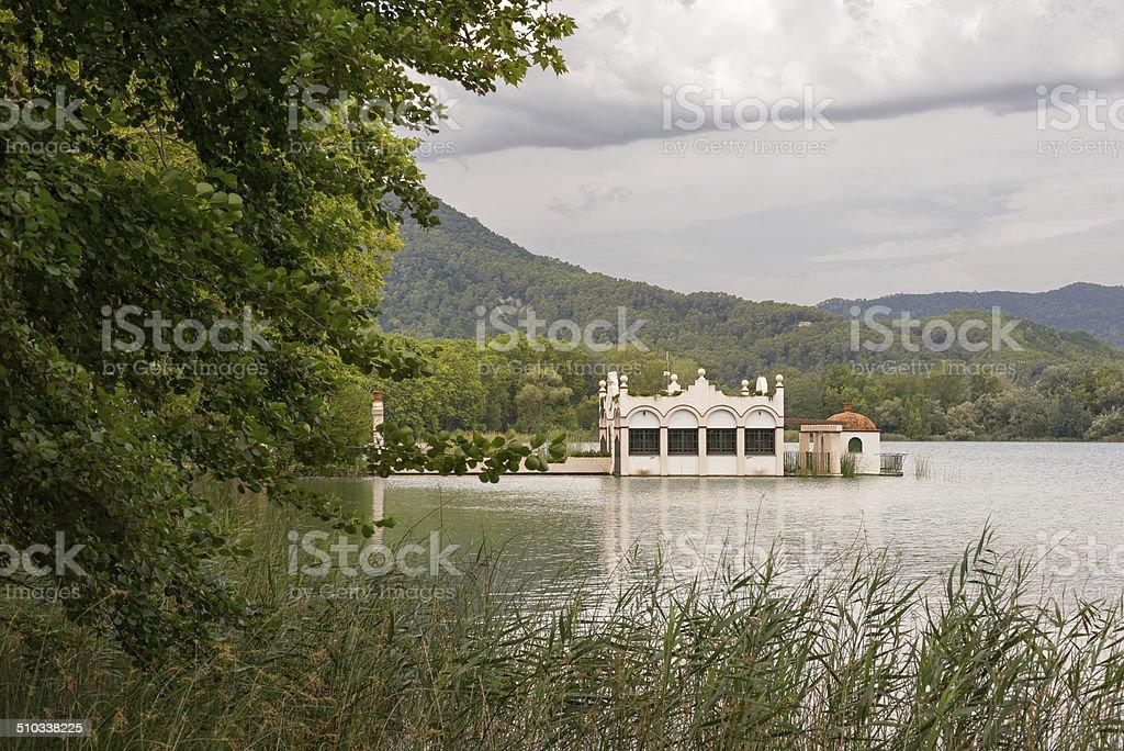 Lake Banyoles stock photo