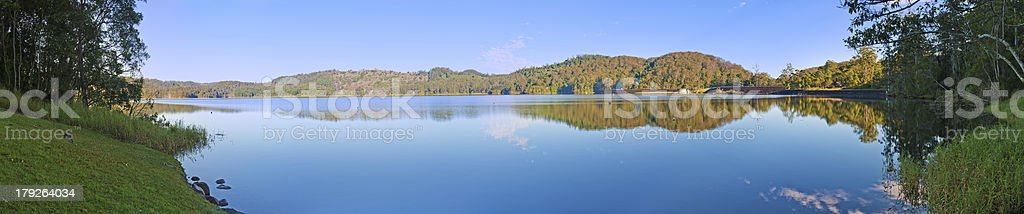 Lake Baroon Panorama Image stock photo