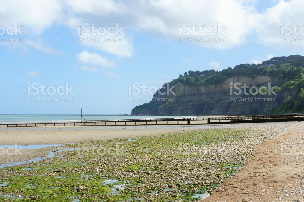Lake Beach - Sandown - Isle of Wight stock photo