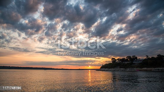 Lake Belton at sunrise in Temple Texas