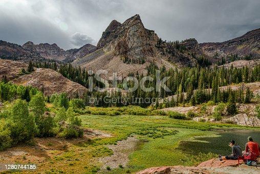 A beautiful landscape of Lake Blanche in Utah