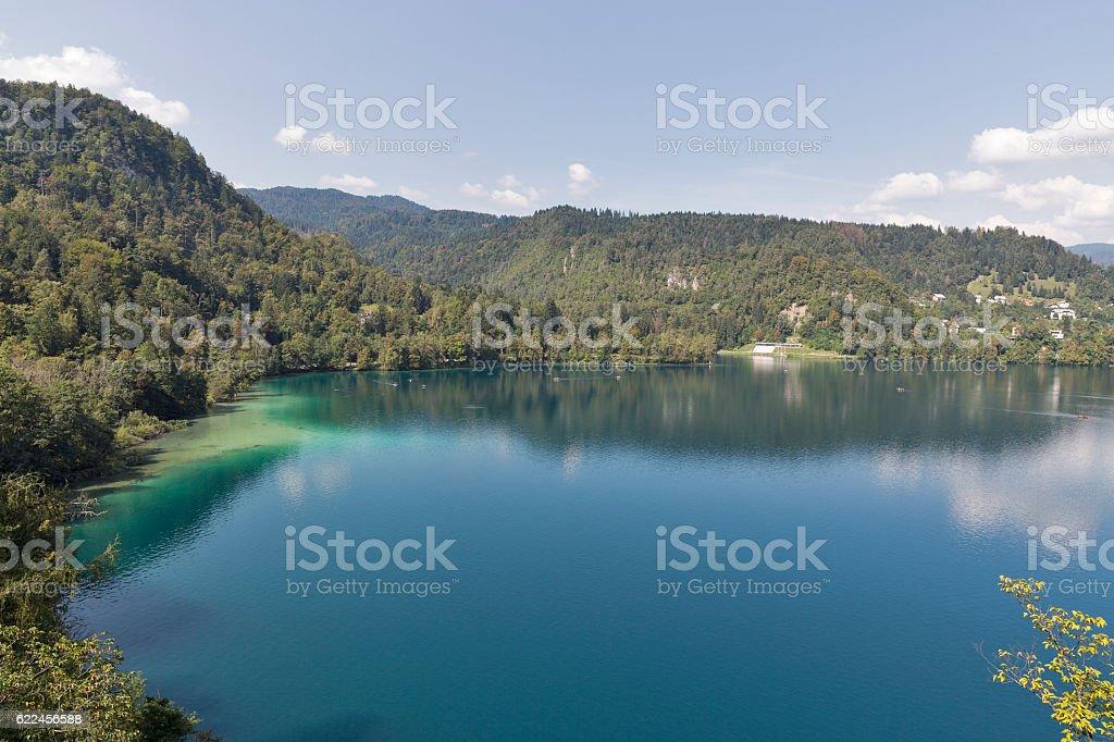 Lake Bled Alpine landscape stock photo
