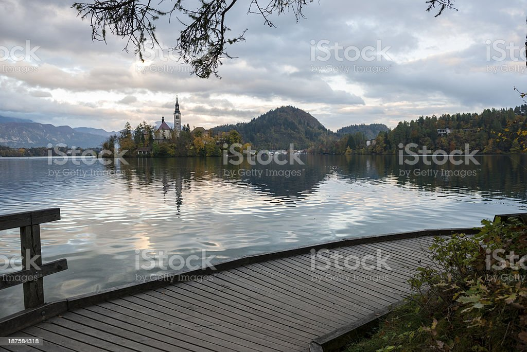 Lake Bled and Church of the Assumption, Slovenia royalty-free stock photo