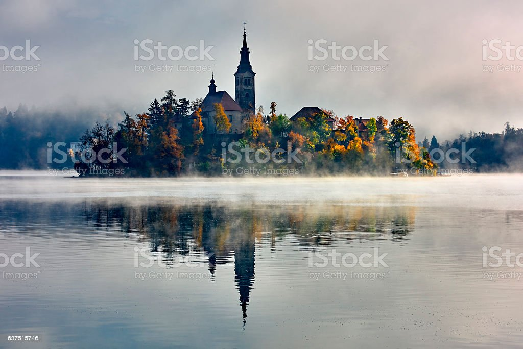 Lake Bled, Bled, Slovenia, Europe. nature stock photo