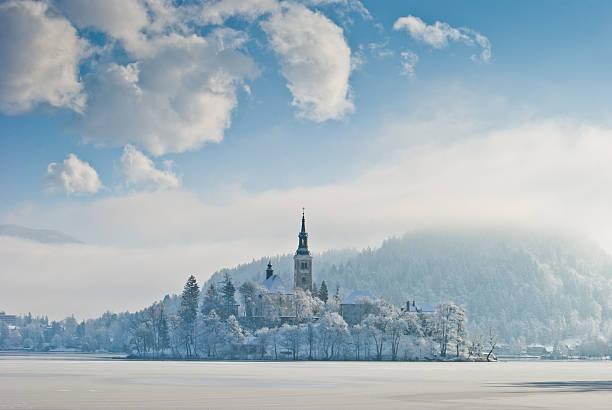 Bleder See im winter, Slowenien – Foto