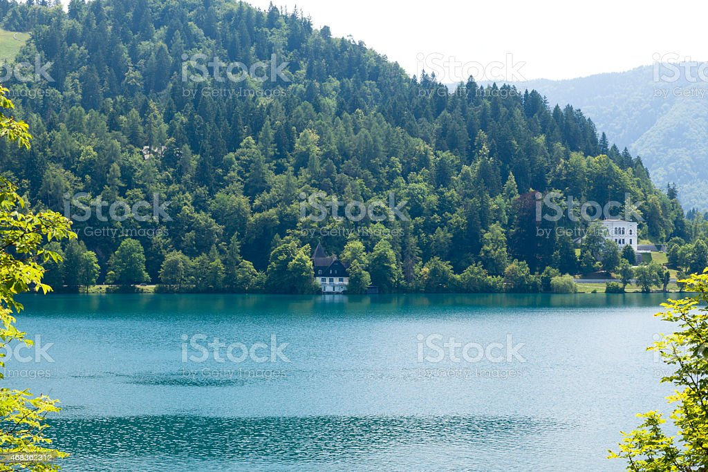 Lake Bled near the eponymous town in Slovenia royalty-free stock photo