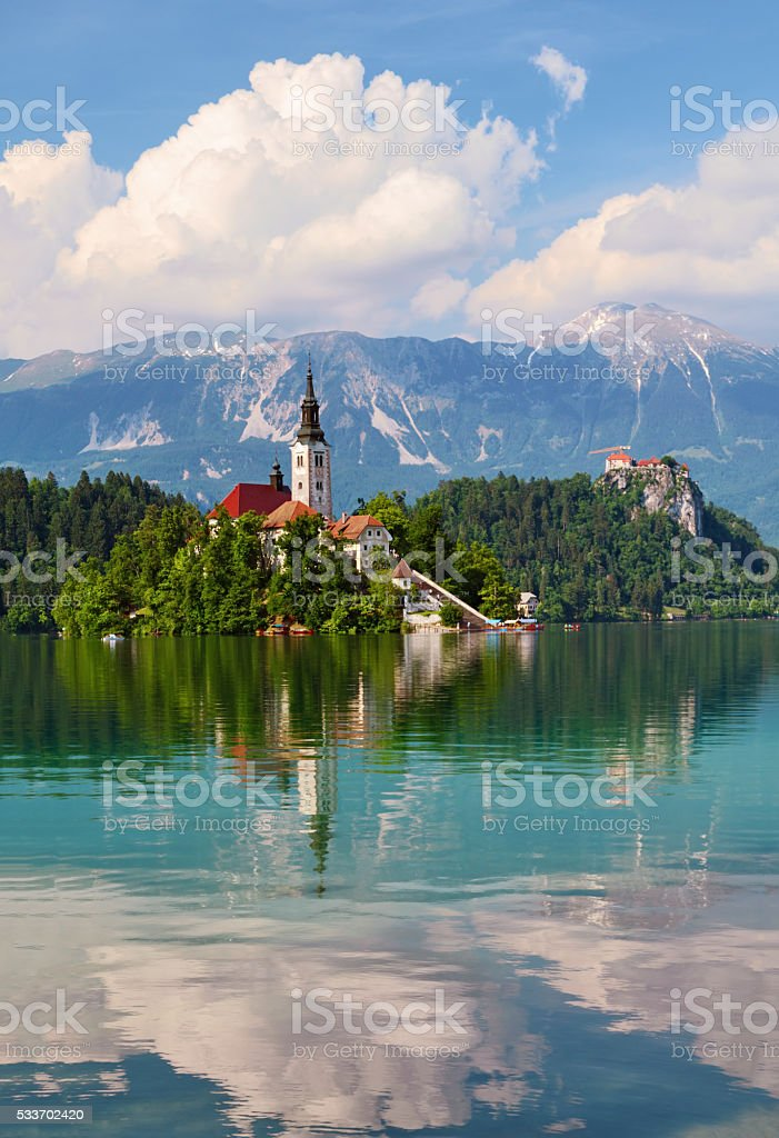 Lake Bled stock photo