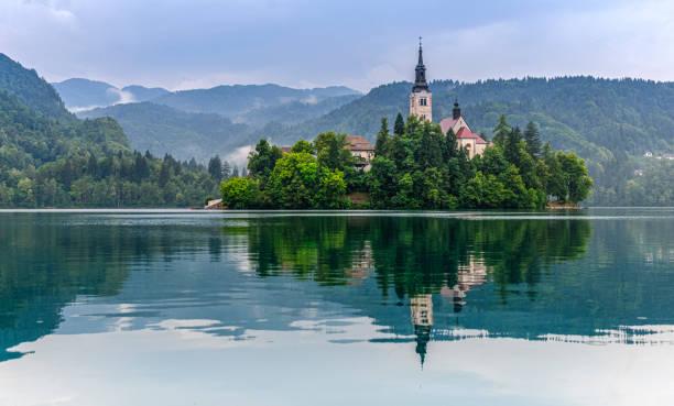 Lake Bled mit Santa Maria Kirche – Foto