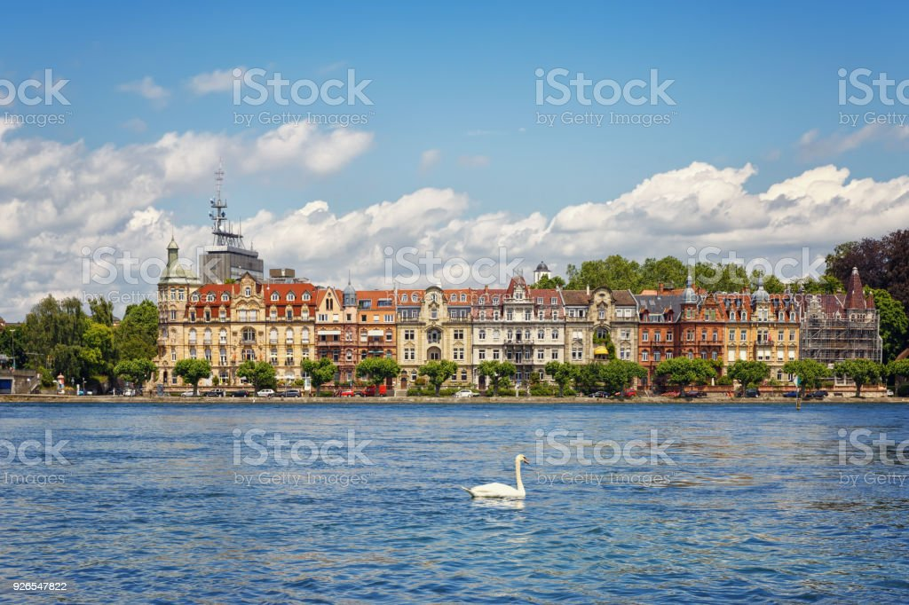 Lake Bodensee In The German City Of Konstanz Germany Stock Photo