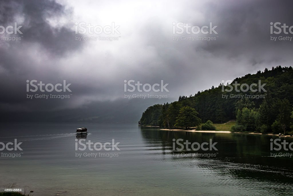 Lake Bohinj royalty-free stock photo