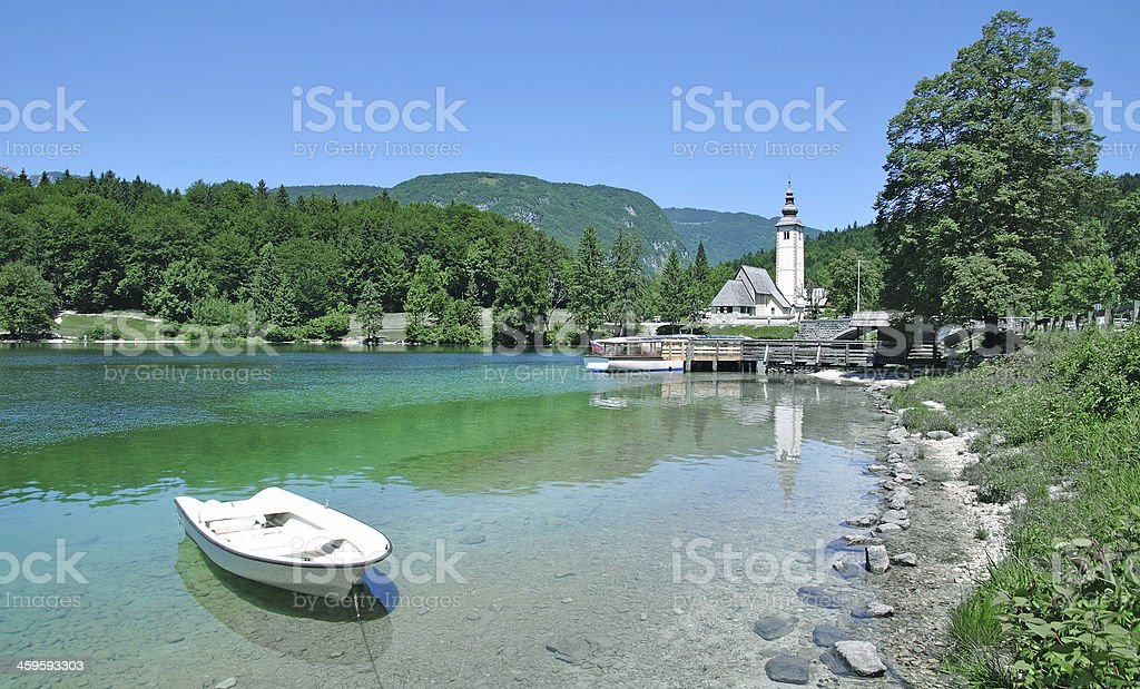 Lake Bohinj,Triglav National Park,Slovenia stock photo