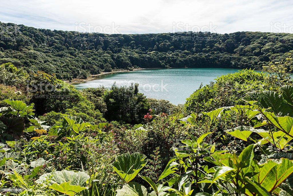 Lake Botos at vulcano Poas in Costa Rica stock photo