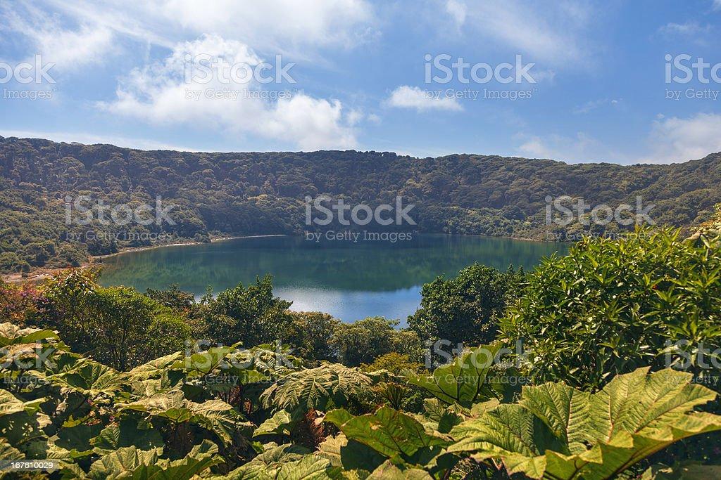 Lake Botos (Poás Volcano) stock photo