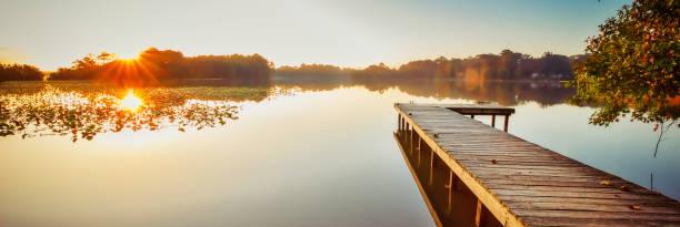 Lake Bradford Pier (Banner) stock photo