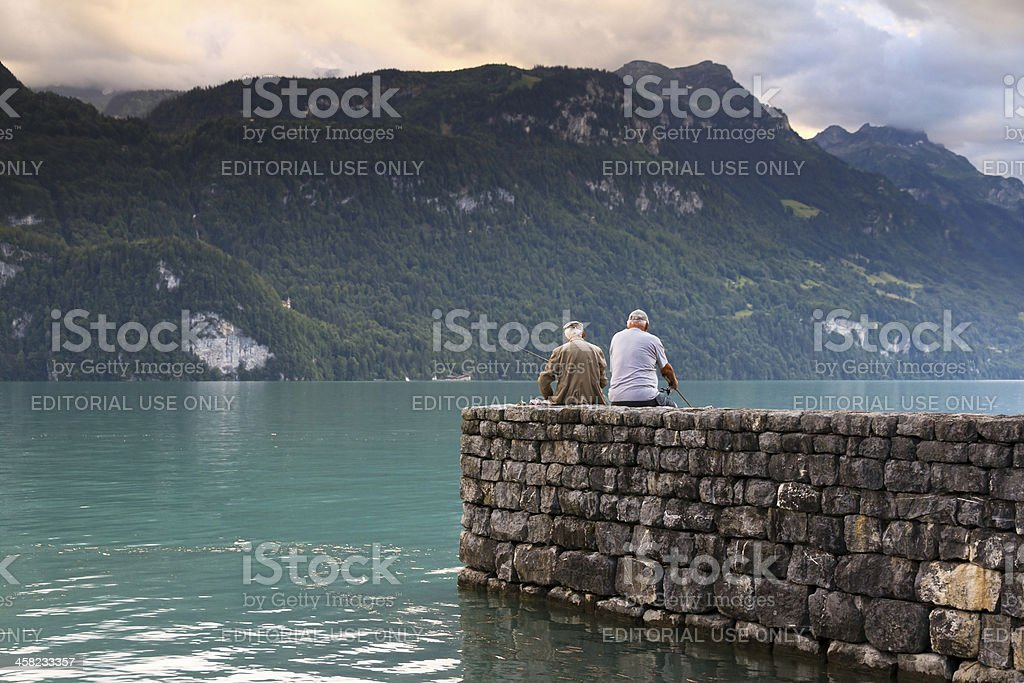 Brienzersee fishing royalty-free stock photo