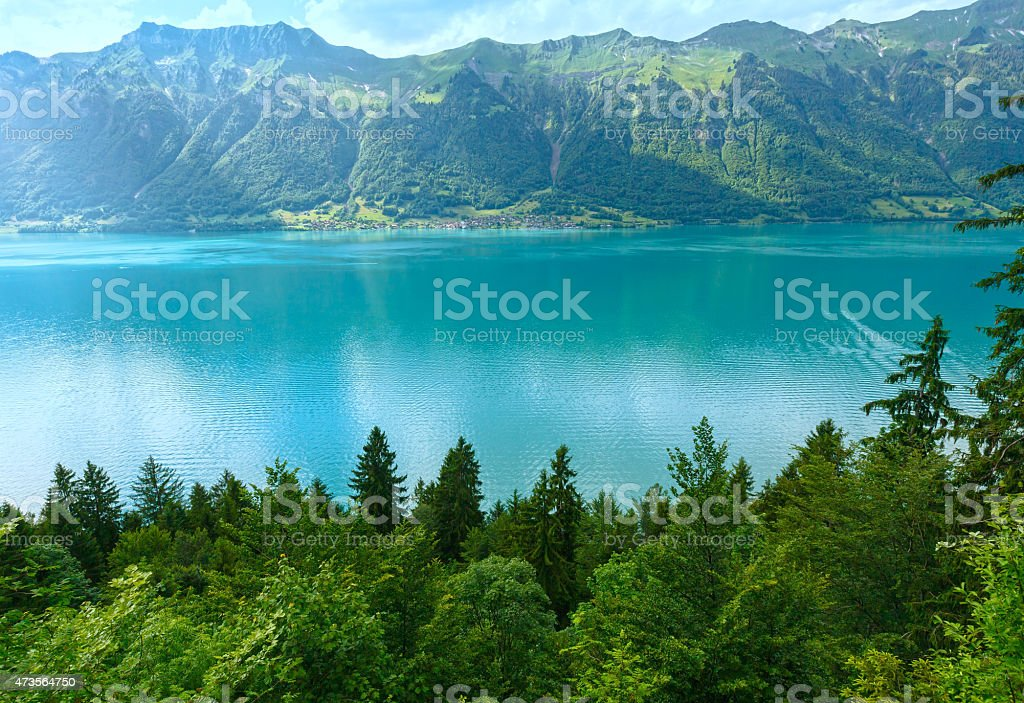 Lake Brienz summer view (Switzerland). stock photo