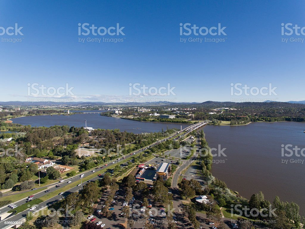 Lake Burley Griffin Canberra stock photo
